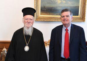 Συνάντηση του Οικουμενικού Πατριάρχη με τον νέο πολιτικό διοικητή του Αγίου Όρους