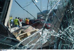 Ε.Ο. Θεσσαλονίκης-Μουδανιών: Τροχαίο και μποτιλιάρισμα
