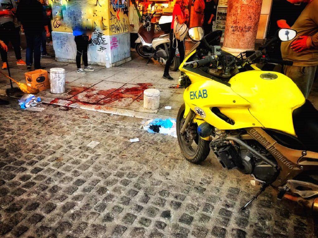 Θεσσαλονίκη : Αιματηρό επεισόδιο με έναν τραυματία μετανάστη (ΦΩΤΟ)