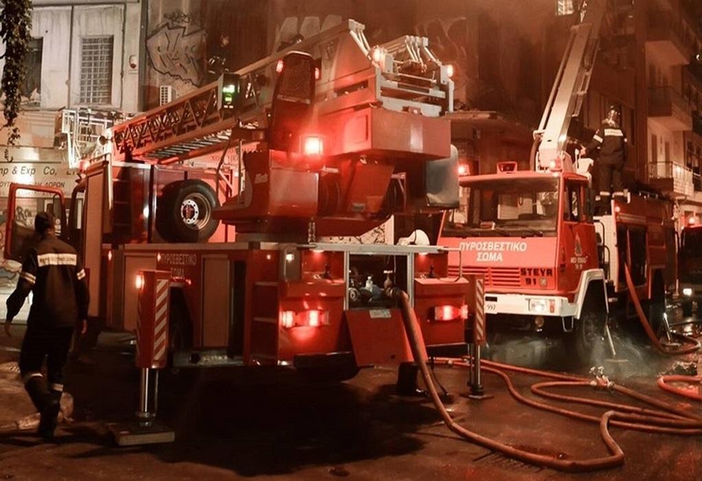 Αθήνα: Φωτιά στην Ερμού τα ξημερώματα (ΦΩΤΟ)