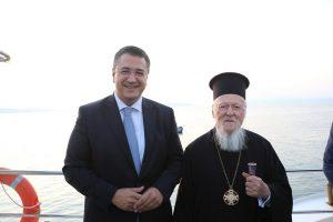 Με τον Οικουμενικό Πατριάρχη στο Άγιο Όρος ο Α.Τζιτζικώστας
