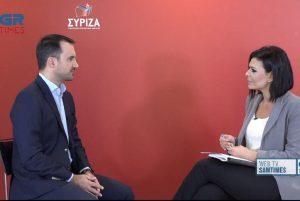 Αλ. Χαρίτσης στο Grtimes: Η ΝΔ θερίζει αυτά που έσπειρε στο προσφυγικό (VIDEO)