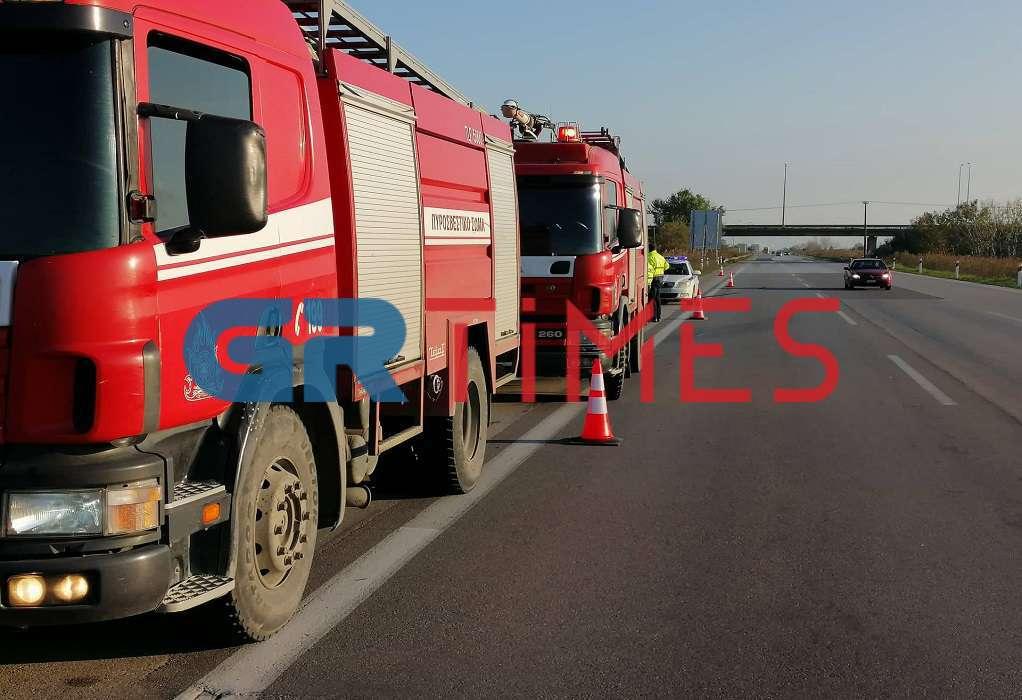 Ατύχημα με βυτιοφόρο στα Μάλγαρα (ΦΩΤΟ)
