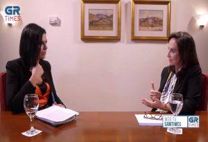 Α.Διαμαντοπούλου στο GrTimes: Η λύση στα πανεπιστήμια θα δοθεί και με την αστυνομία, αλλά όχι από την αστυνομία