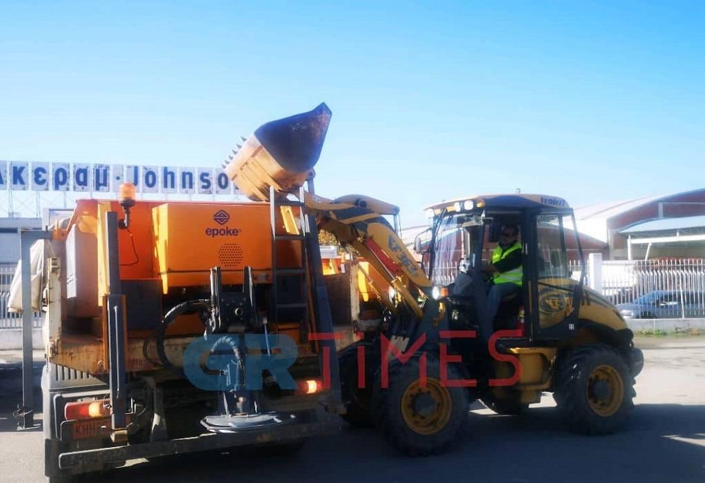 Σε ετοιμότητα ο Δ. Θεσσαλονίκης – 950 τόνοι άλατος