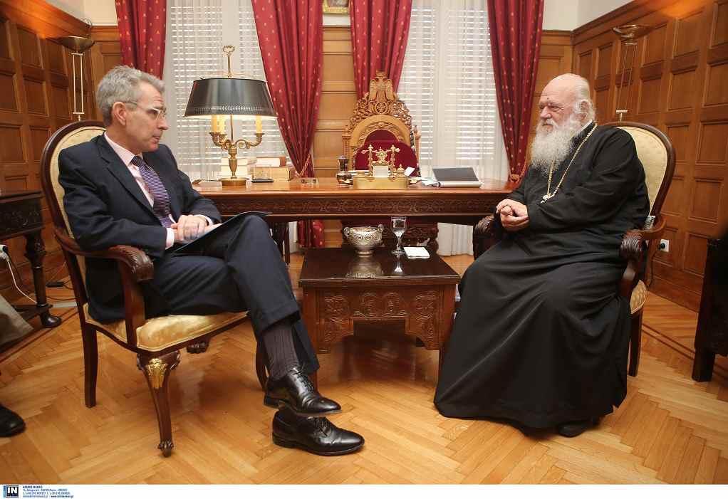 Συνάντηση του Αρχιεπισκόπου Ιερωνύμου με τον Τζέφρι Πάιατ
