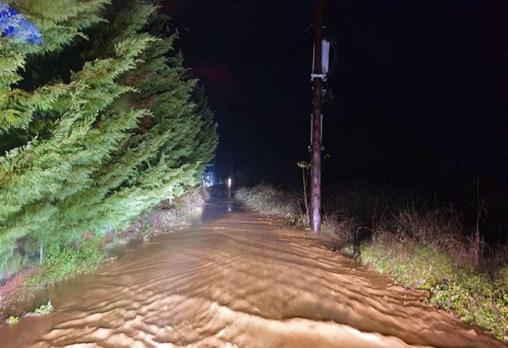 Σκιάθος: Πλημμύρες και ζημιές από την κακοκαίρια (VIDEO)