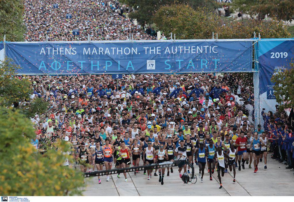 37ος Μαραθώνιος της Αθήνας: Δυο Κενυάτες και ένας Έλληνας στο βάθρο των νικητών