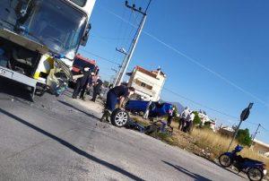 Μενίδι: Σφοδρή σύγκρουση ΙΧ με λεωφορείο – Ένας τραυματίας