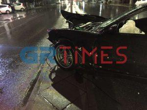 Θεσσαλονίκη: Οδηγός καρφώθηκε σε κολόνα στην οδό Μοναστηρίου (VIDEO-ΦΩΤΟ)