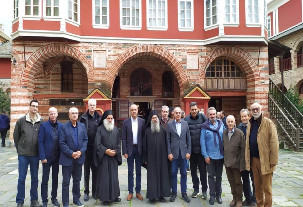 Στο Άγιο Όρος ο Θ. Καράογλου – Επιθεώρησε εργασίες συντήρησης & αναστήλωσης