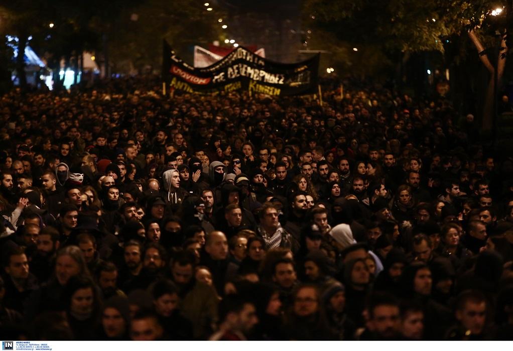 Σε εξέλιξη η πορεία για τον Γρηγορόπουλο στην Αθήνα (ΦΩΤΟ)