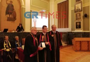 Το ΑΠΘ τίμησε τον Θεσσαλονικιό CEO της Pfizer, δρ. Άλμπερτ Μπουρλά
