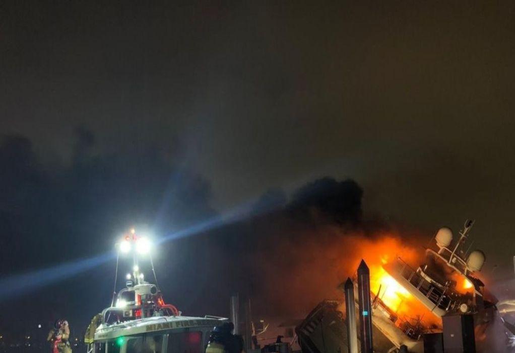 Βίντεο: Κάηκε το πολυτελές γιοτ του Μαρκ Άντονι