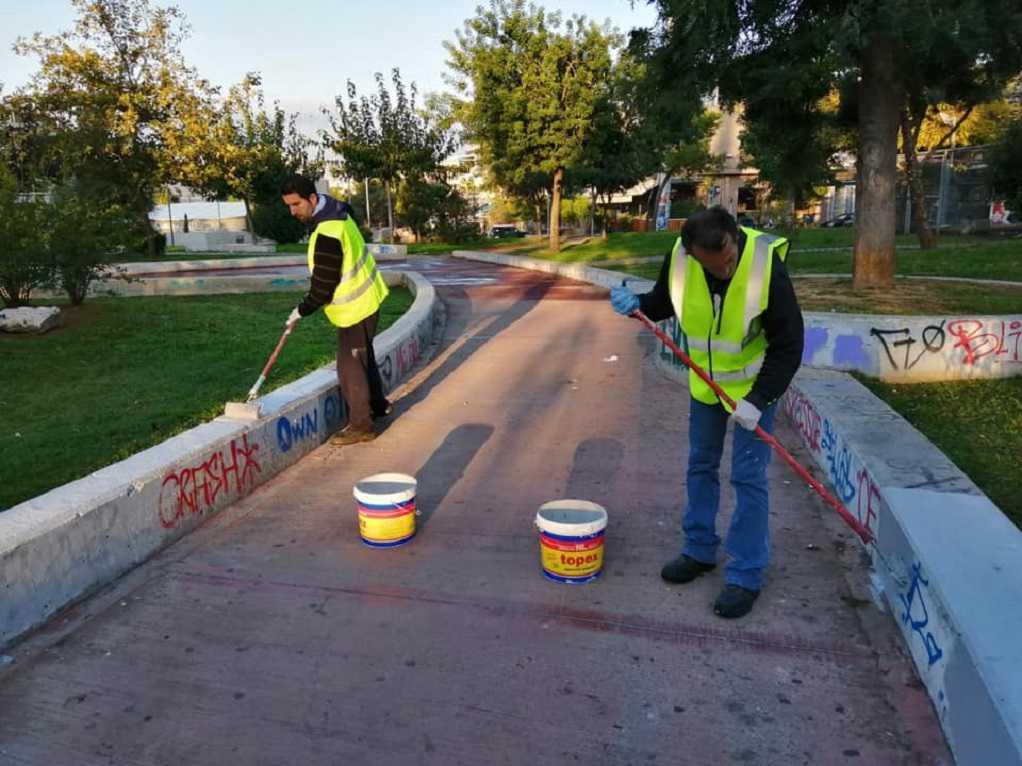 Καθαρισμός πλατειών στο δήμο Αθηναίων