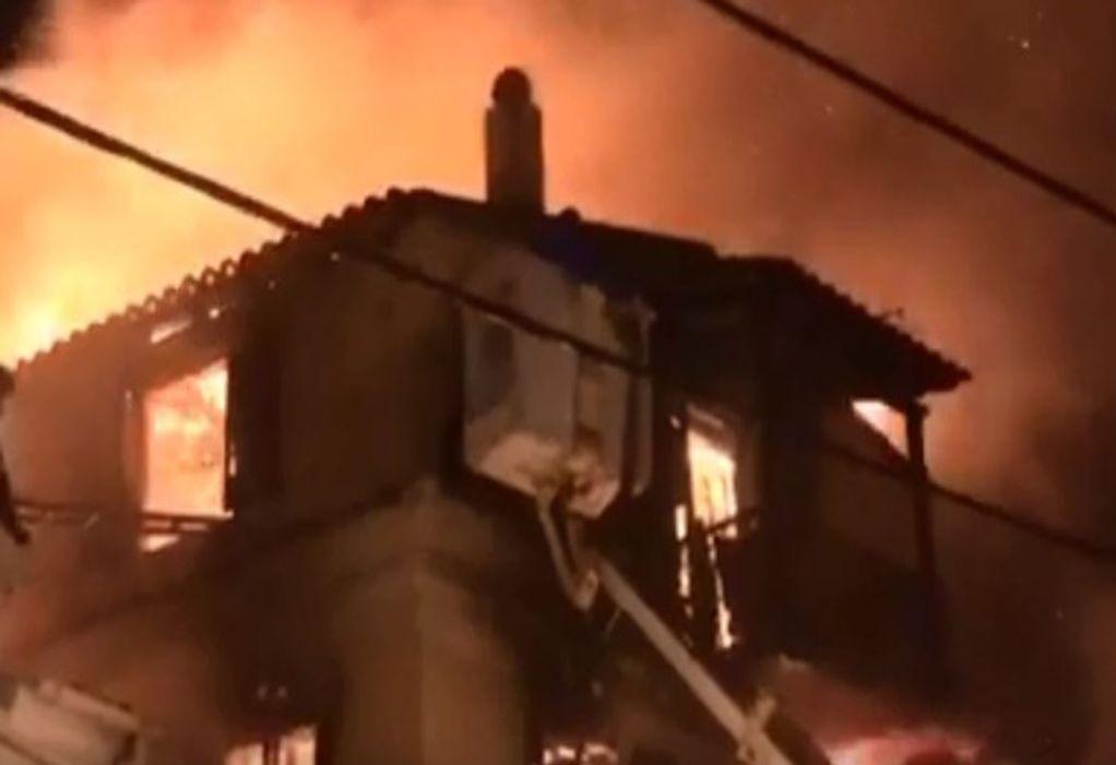 Κέρκυρα: Πυρκαγιά με εγκλωβισμένους και τραυματίες (VIDEO)