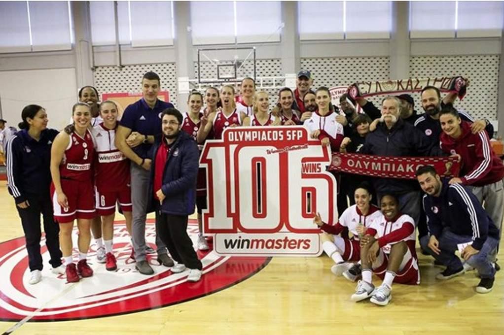 Ιστορική νίκη για τη γυναικεία ομάδα μπάσκετ του Ολυμπιακού