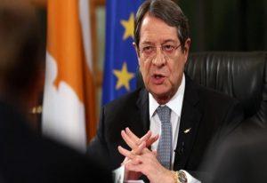 Αναστασιάδης: Δεν προχωράμε σε διαπραγματεύσεις υπό απειλές