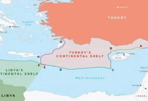 Νέος προκλητικός χάρτης από την Τουρκία