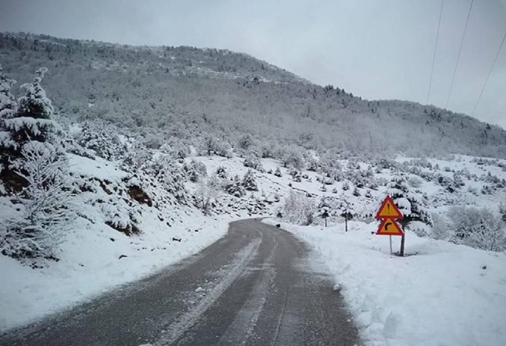Τρίκαλα: 15 πόντους χιόνι και κατολισθήσεις
