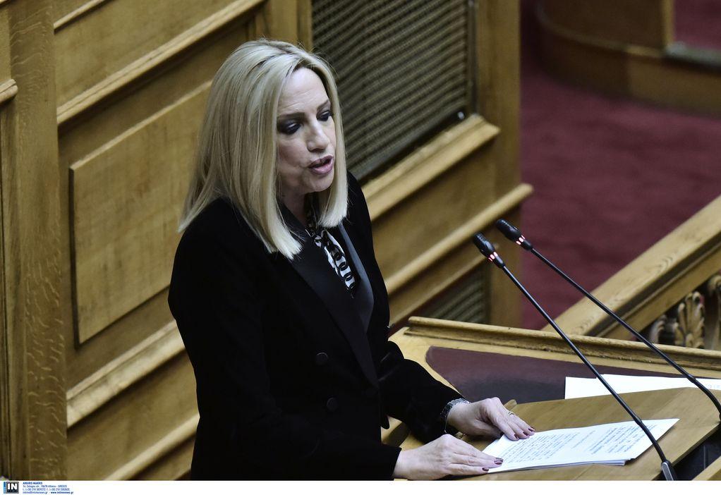 Φ. Γεννηματά: O κ. Μητσοτάκης να δείξει μεγαλύτερη αποφασιστικότητα στα εθνικά θέματα