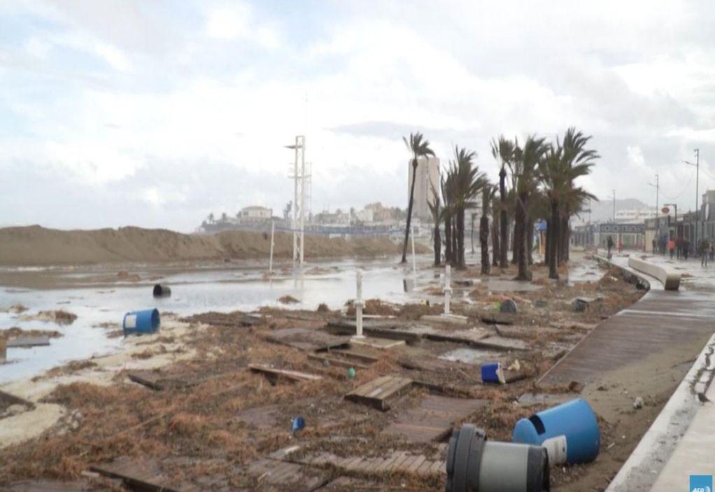 Ισπανία: Σαρωτικό το πέρασμα της καταιγίδας Γκλόρια (VIDEO)