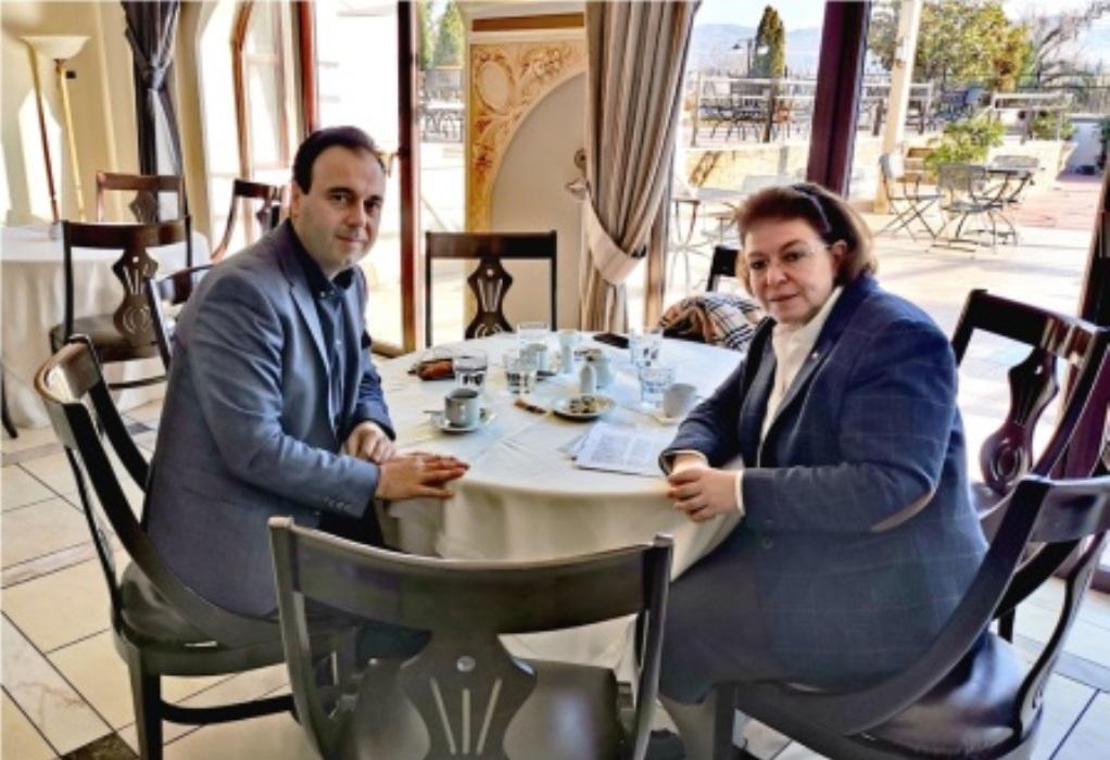 Τρίκαλα: Συνάντηση Παπαστεργίου – Μενδώνη