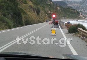 Εύβοια: Βράχια «πλάκωσαν» αυτοκίνητο της ΟΠΚΕ