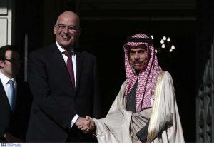 Συνάντηση των ΥΠΕΞ Ελλάδας και Σαουδικής Αραβίας