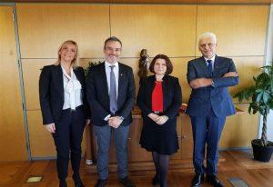 Συνάντηση Ζέρβα με την Πρέσβειρα της Σλοβακίας (ΦΩΤΟ)