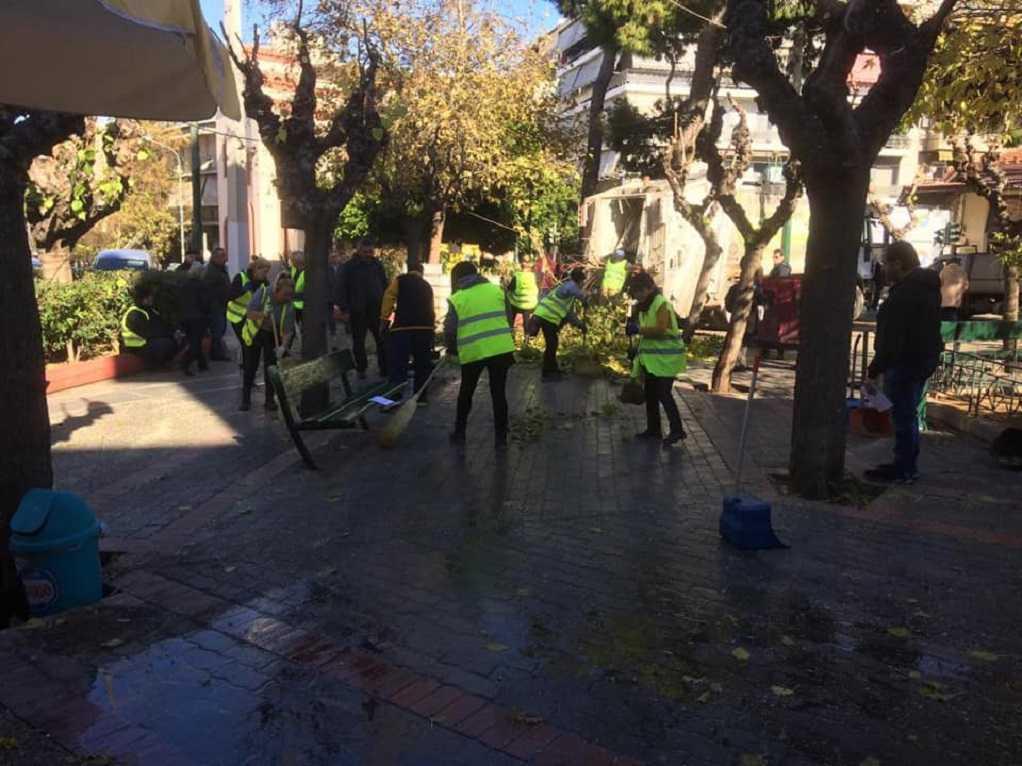 Συνεχίστηκε ο καθαρισμός δημόσιων χώρων από τον δήμο Αθηναίων