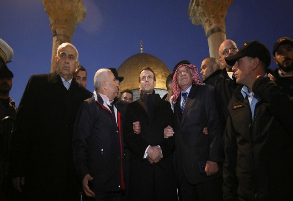 Μακρόν: Έβαλε τις φωνές σε άνδρες της ισραηλινής ασφάλειας (Βίντεο)