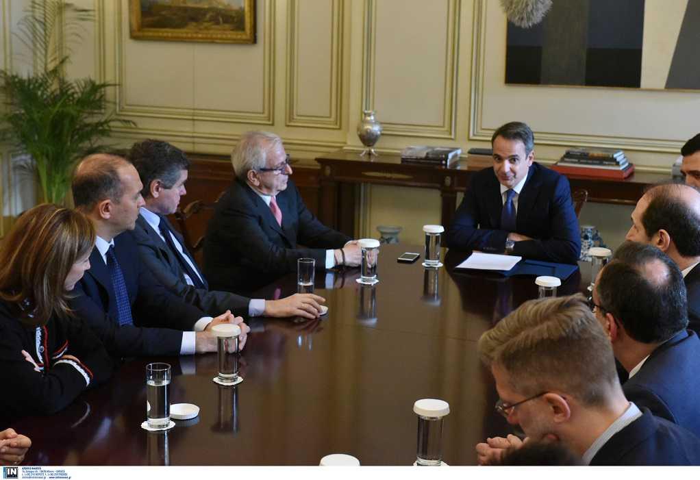 Συνάντηση Κ. Μητσοτάκη με Ένωση Ελλήνων Εφοπλιστών