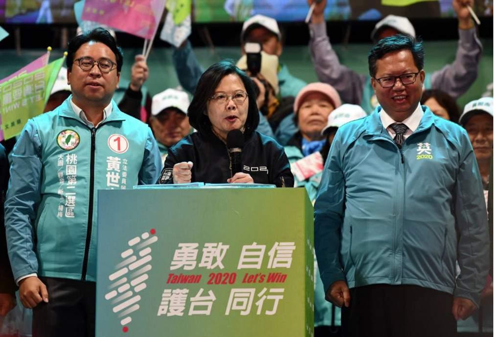 Ταϊβάν: Πανηγυρική επανεκλογή της Τσάι Ινγκ-γουέν
