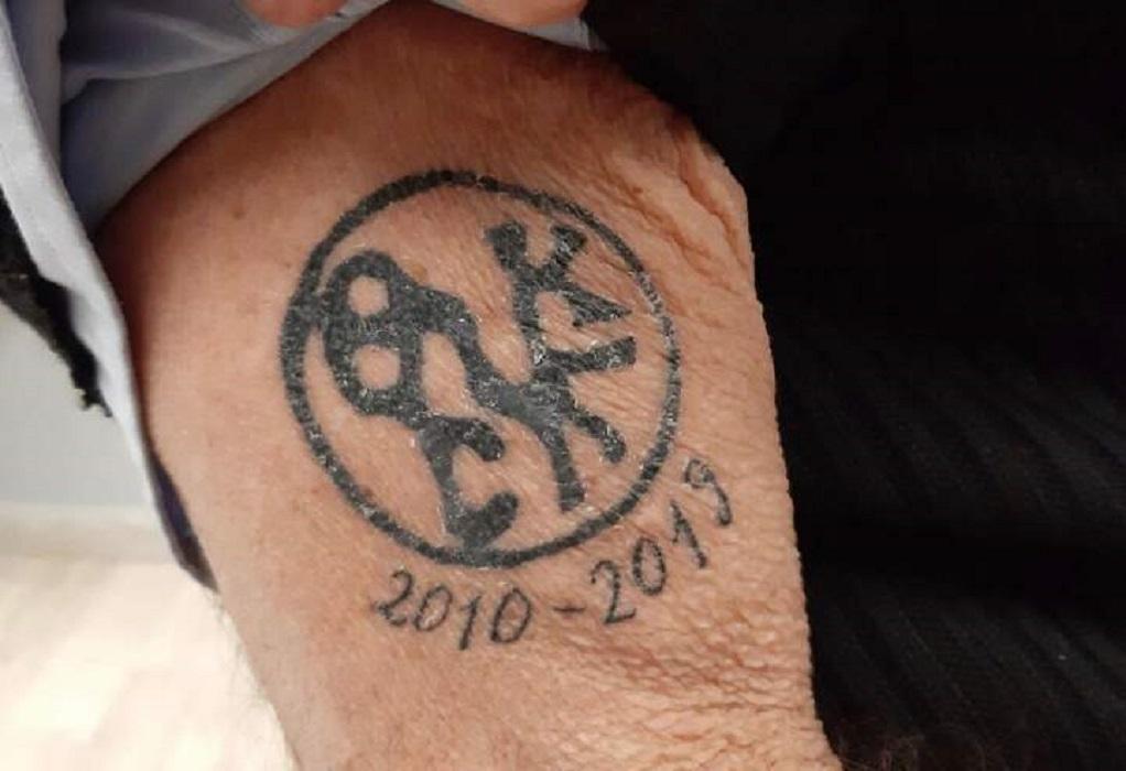 Γ. Μπουτάρης: «Χτύπησε» τατουάζ με το σήμα του δήμου!
