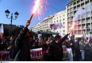 Συλλαλητήριο των εργαζομένων στη ΛΑΡΚΟ (ΦΩΤΟ+VIDEO)