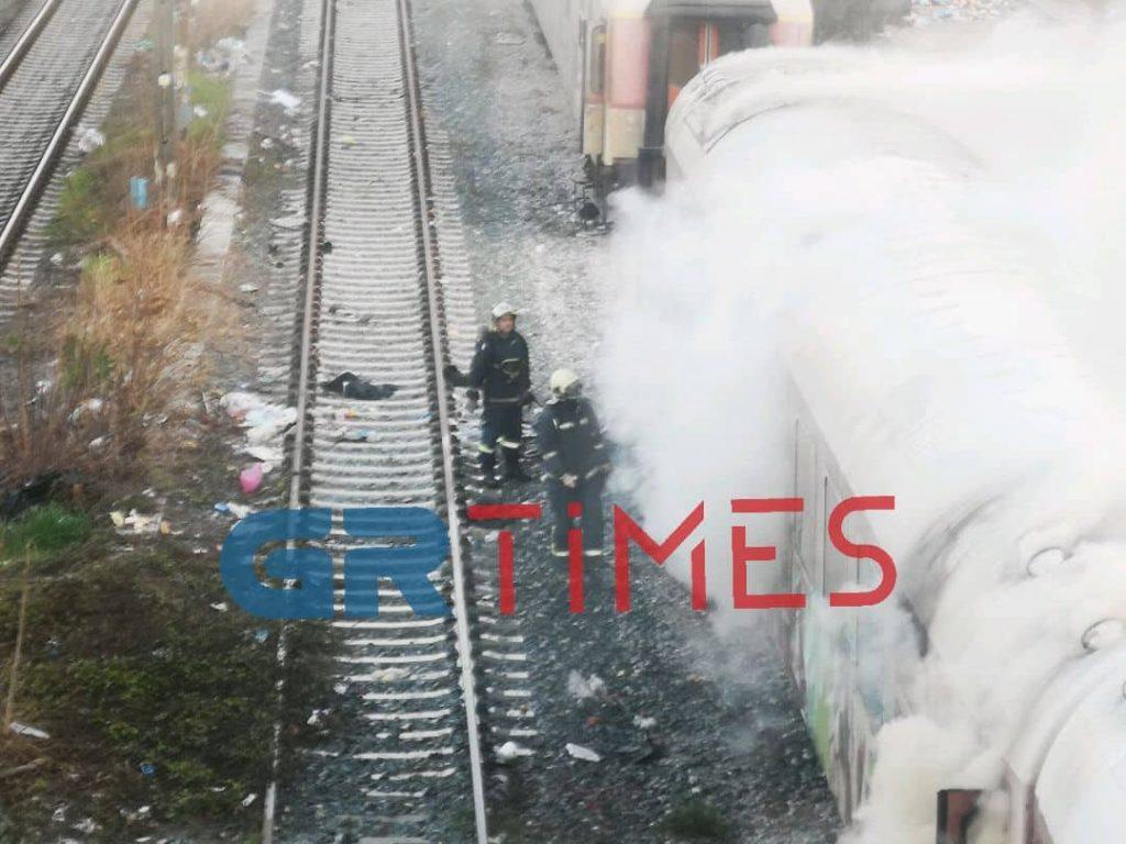 ΤΡΑΙΝΟΣΕ: Καθυστέρηση σε αμαξοστοιχία λόγω της πυρκαγιάς