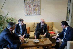 Συνάντηση Γεωργιάδη -Τσακίρη με W. Hoyer