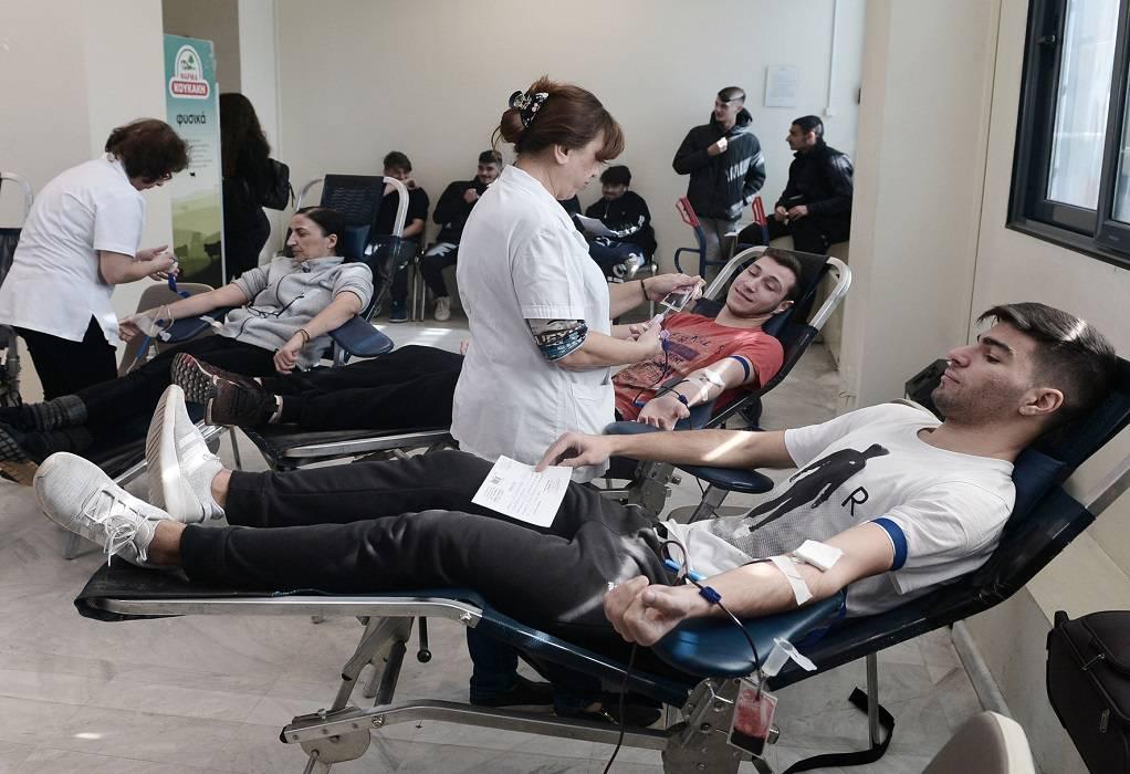 Μαθητική… εισβολή στην εθελοντική αιμοδοσία