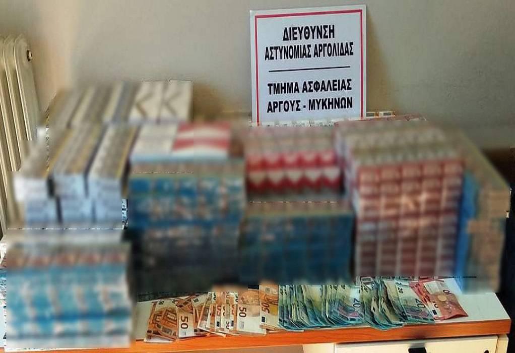 Αργολίδα: Κατασχέθηκαν 1.300 πακέτα λαθραίων τσιγάρων