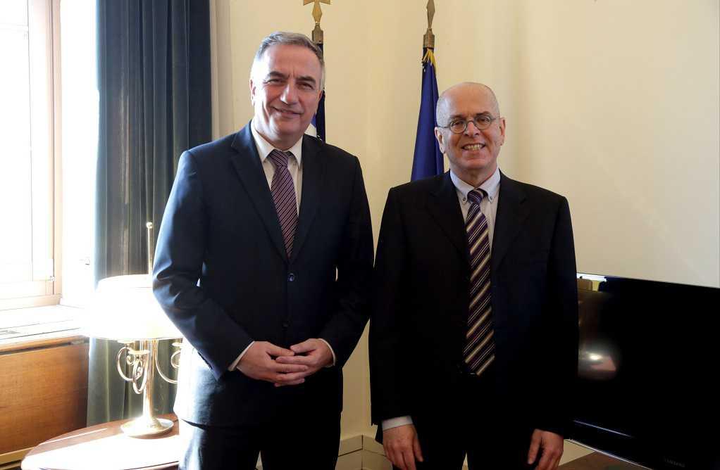 Συνάντηση Στ. Καλαφάτη με Πρέσβη του Ισραήλ στην Ελλάδα