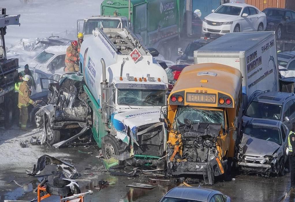 Καναδάς: Τροχαίο με 200 οχήματα στο Μόντρεαλ(ΦΩΤΟ-ΒΙΝΤΕΟ)
