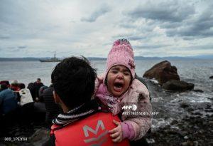 Εικόνες από άφιξη προσφύγων στη Λέσβο