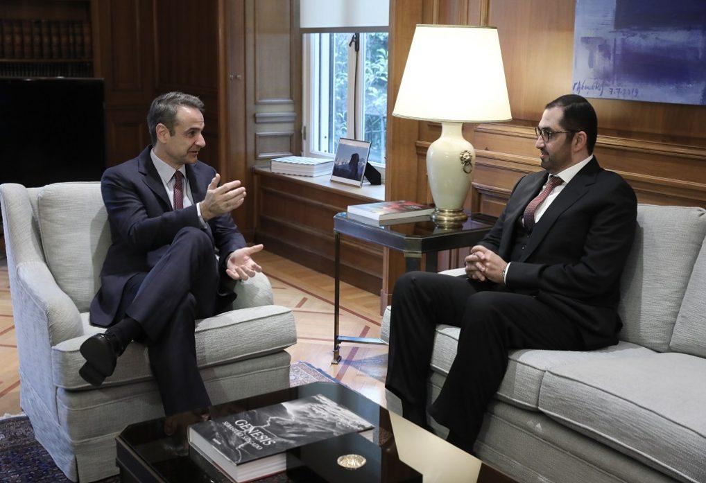 Συνάντηση Μητσοτάκη με υπουργό επικρατείας Η.Α.Ε