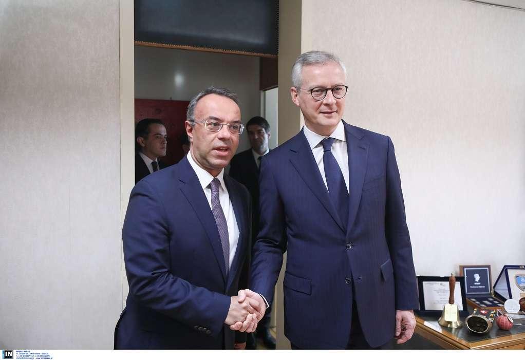 Συνάντηση Σταϊκούρα- Λε Μερ: Γαλλική στήριξη στην ελ. οικονομία