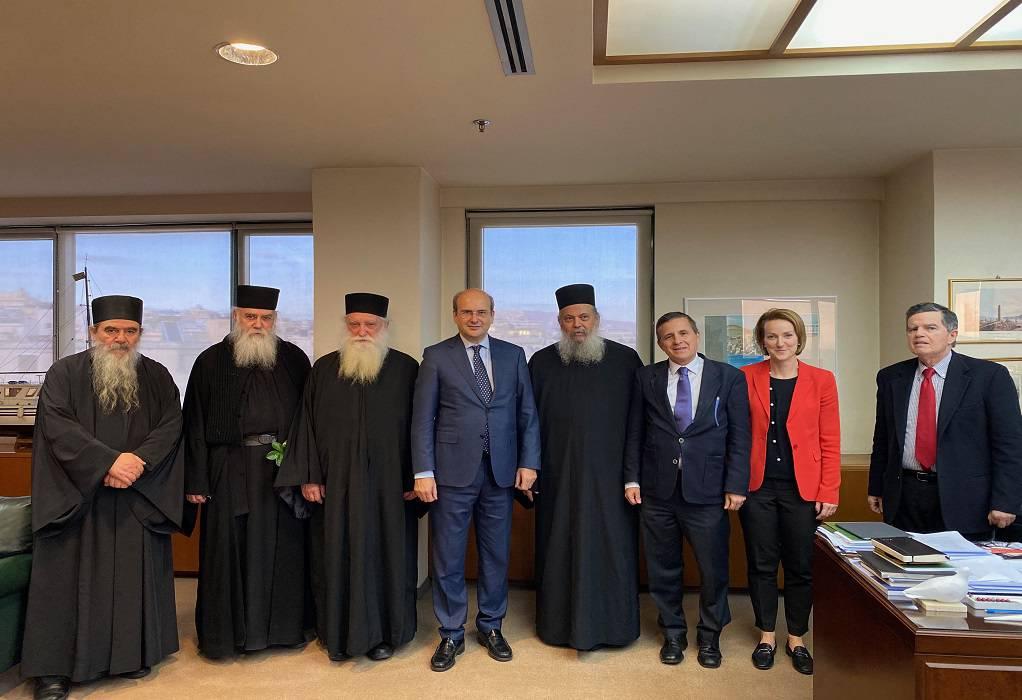 Συνάντηση Κ. Χατζηδάκη με την Ιερά Κοινότητα Αγίου Όρους