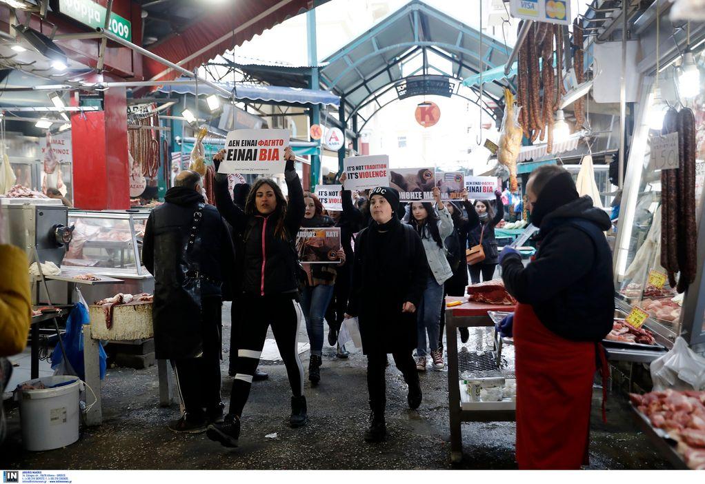 Θεσσαλονίκη: Παρέμβαση «vegan» ακτιβιστών για την Τσικνοπέμπτη