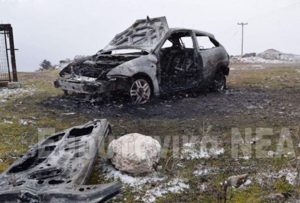 Καρπενήσι: Απανθρακωμένος άντρας μέσα στο αυτοκίνητό του (VIDEO)