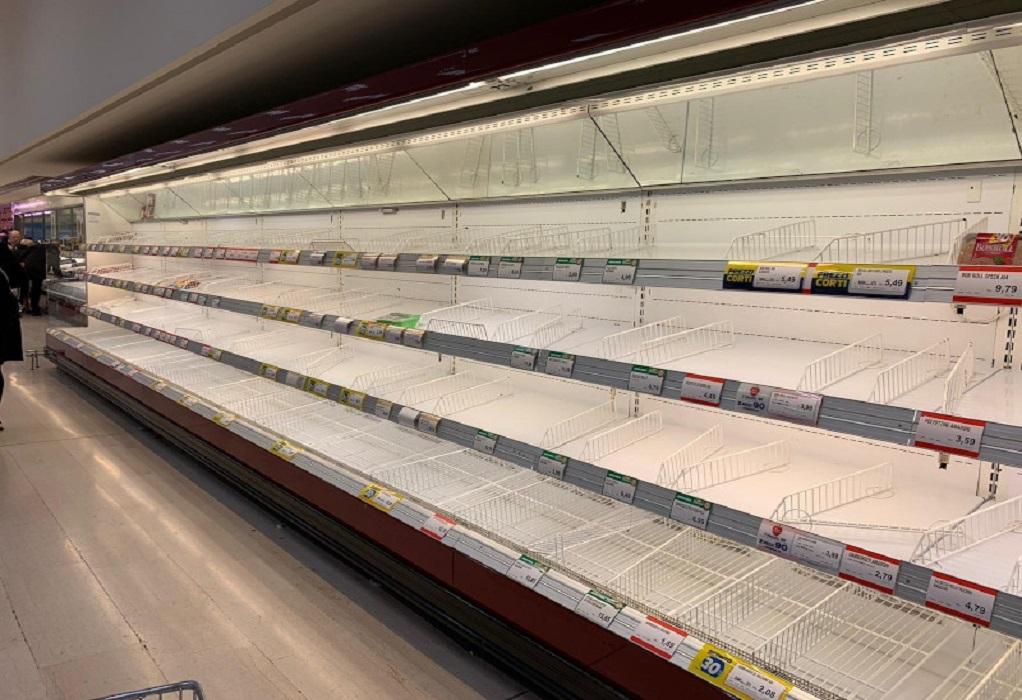 Κοροναϊός: Αδειάζουν τα σούπερ-μάρκετ στην Ιταλία