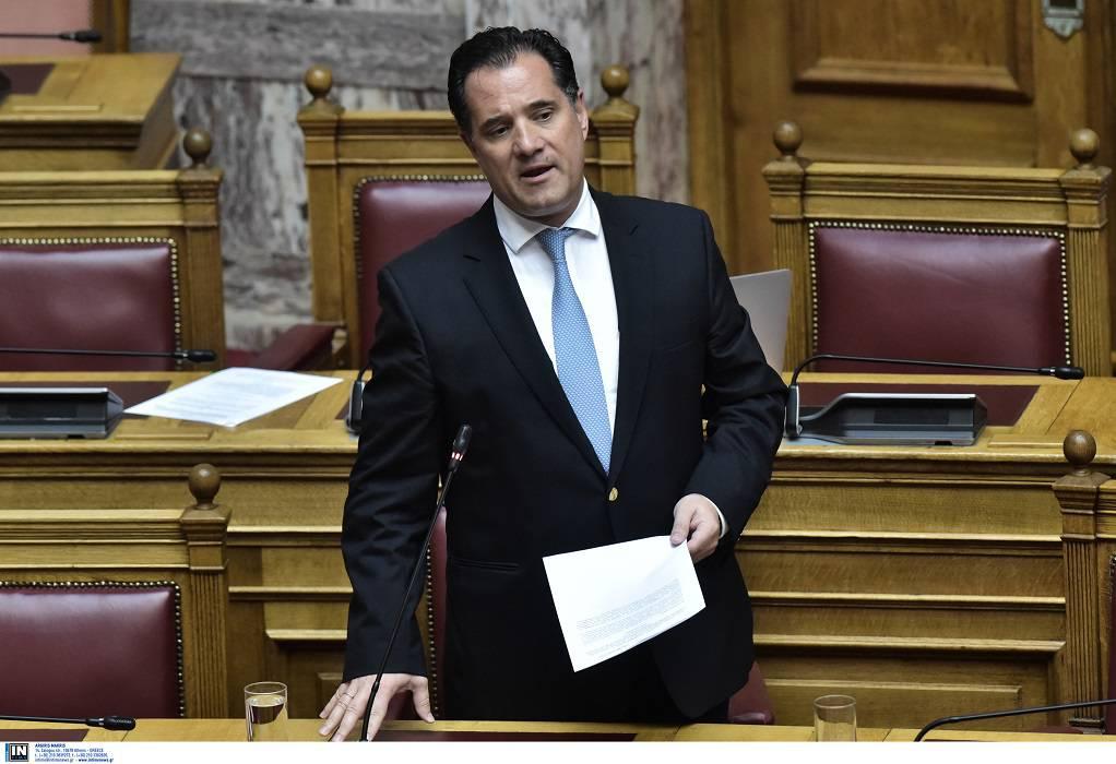 Γεωργιάδης: «Συμμορία» ο ΣΥΡΙΖΑ, «ψεύτης» ο Παπαγγελόπουλος